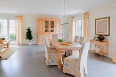 Modern house, living-room Royalty Free Stock Image