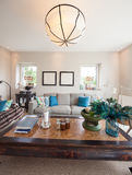 Modern house, living room Royalty Free Stock Image
