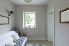 Modern house, living room Royalty Free Stock Photos