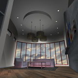 Modern House-Livingroom Royalty Free Stock Photography