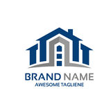 Modern house logo concept Royalty Free Stock Images