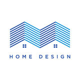 Modern House Logo. Perfect logo for a realty or housing industry Royalty Free Stock Photography