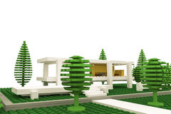 Modern house made of plastic bricks Royalty Free Stock Photo