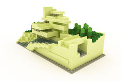 Modern house made of plastic bricks Stock Image