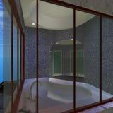 Modern House - Master Bathroom Stock Photos