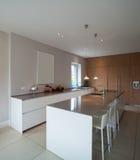Modern house,minimal kitchen Royalty Free Stock Photography