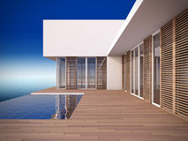 Modern house in minimalist style. Stock Photo