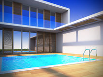Modern house in minimalist style. Stock Photography