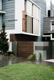 Modern house with mixed materials Royalty Free Stock Photos
