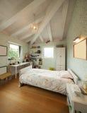 Modern house, modern bedroom Stock Image