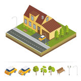 Modern House. Modern Home. Isometric Concept. Real Estate Royalty Free Stock Photo