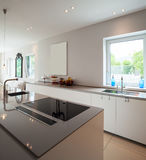 Modern house, modern kitchen Royalty Free Stock Images