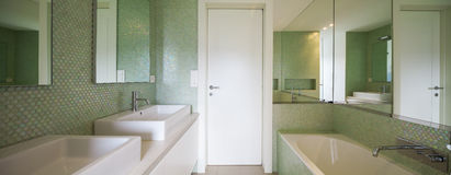 Modern house,modern toilet Royalty Free Stock Images