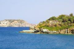 Modern house on mountain on Crete island Royalty Free Stock Image