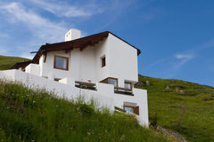 Modern house in the mountains Royalty Free Stock Photography