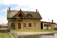 Modern house in the national Moldavian style Stock Photo