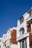Modern house and nice blue sky. Modern brick house and nice blue sky Stock Photo