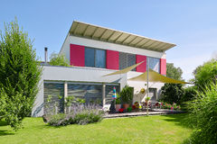 Modern house with nice garden Stock Photo