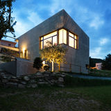 Modern house by night Stock Image