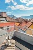 Modern house, outdoor, balcony Stock Image