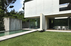 Modern house outdoors Royalty Free Stock Photo