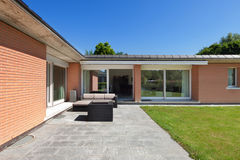 Modern house, outdoors Royalty Free Stock Photo