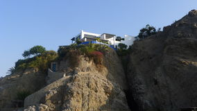 Modern house over a cliff in Ancon, north of Lima Stock Photos