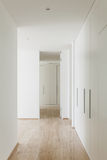 Modern house, passage view Stock Photography