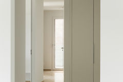 Modern house, passage view Royalty Free Stock Image