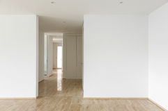 Modern house, passage view Stock Images