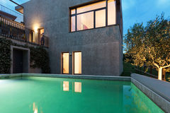 Modern house with pool Stock Image