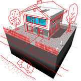 Modern house redesign diagram Stock Photo