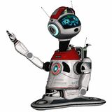 Modern house robot Royalty Free Stock Image