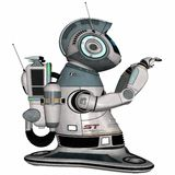Modern house robot Stock Images