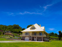 Modern house. Scenic view of modern house - winery region of Bento Goncalves - Brazil Stock Images