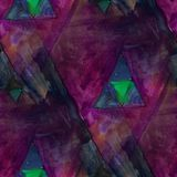 Modern house seamless triangles watercolor artist wallpaper text Royalty Free Stock Photo