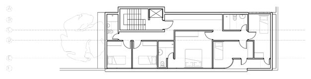 Modern house second floor plan Royalty Free Stock Photography