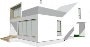 Modern house sketch vector stock images