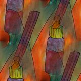 Modern house soother seamless  watercolor artist wallpaper textu Stock Image