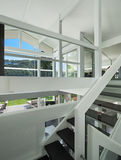 Modern house, staircase Stock Image