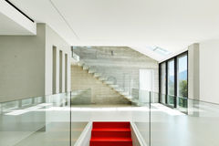 Modern house, staircase Stock Photo