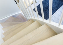 Modern house stairs Stock Photo