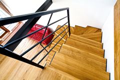 Modern house with stairs Royalty Free Stock Photos