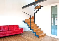 Modern house with stairs Stock Photography