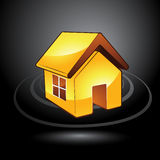 Modern house symbol Royalty Free Stock Photos