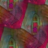 Modern house traffic light seamless  watercolor artist wallpaper Stock Photos