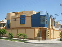 Post-Modern House. Located in a residential area in Piura, Peru royalty free stock photography