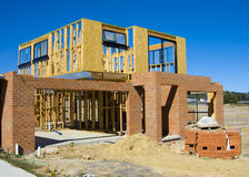 Modern House Under Construction Stock Photo
