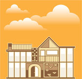 Modern house vector simplistic Stock Image