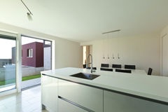 Modern house, view of kitchen Royalty Free Stock Photos